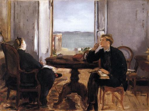 Édouard manet, interior-at-arcachon-1871