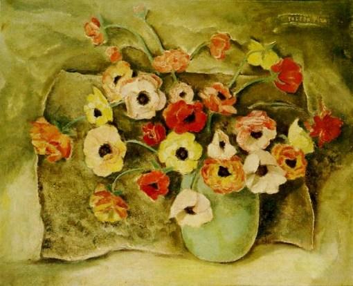 Domingos Toledo Piza[Domingos Viegas Toledo Piza](Brasil, 1887 –1944) Vaso de flores - OST - 44x53 - Déc. 40