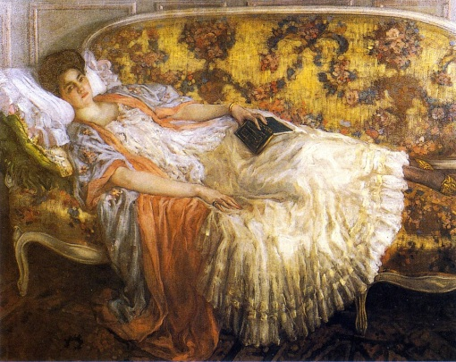 femme au sofa