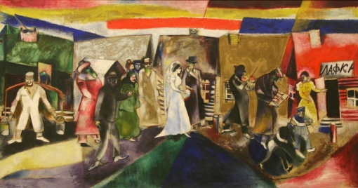 MArc Chagall, jewish wedding 1910