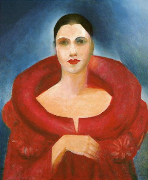 Tarsila do Amaral. Auto Retrato. 1923. Óleo sobre tela.73x60,5cm. MNBA