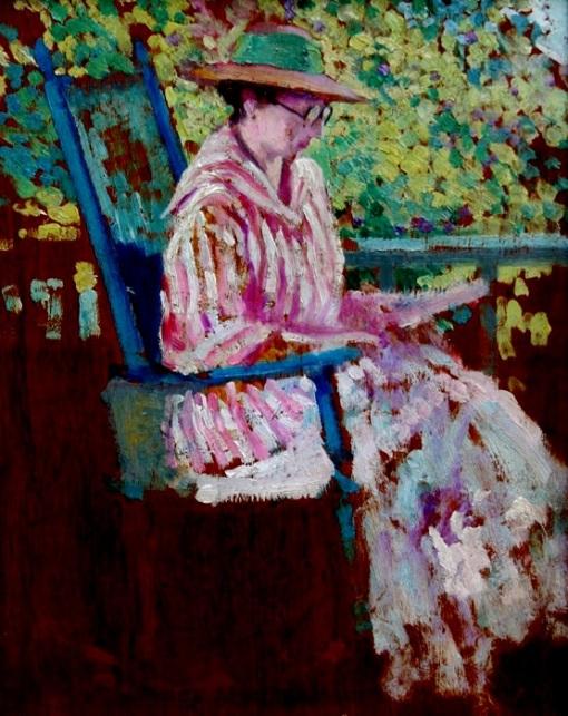 Alson Skinner Clark (1876-1949) At the saint Lawrence, osm, 1916, 25 x 20cm