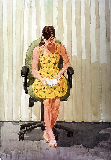 AndrewPaquette (EUA, 1965) Nina, quase dez anos, 2002, aquarela, 40x60