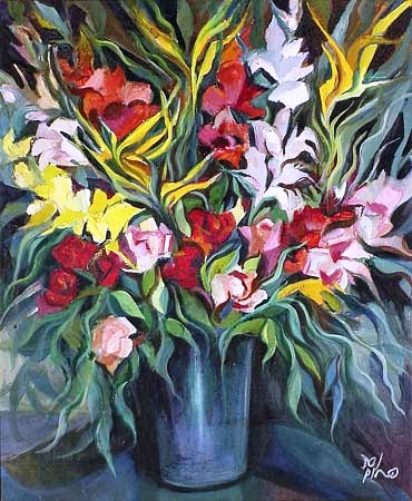 Del Pino (Brasil, MG, 1907-198)- Vaso de Flor, ost, 70x60 cm