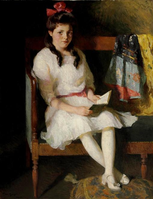 Frank_W._Benson,_Portait_of_Gertrude_Russell,_1915