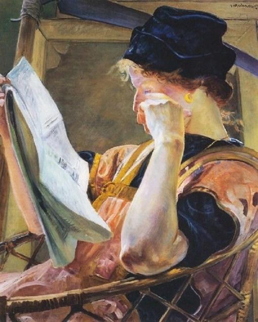 Jacek Malczewski (1854–1929)A modelo, sd, ost