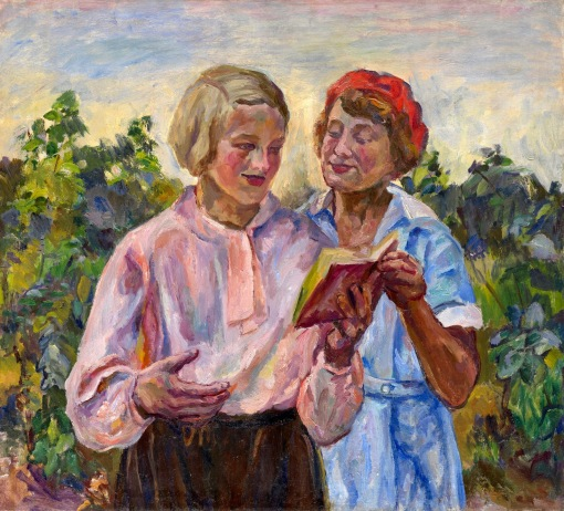 Lentulov, Aristarkh - Reading poetry