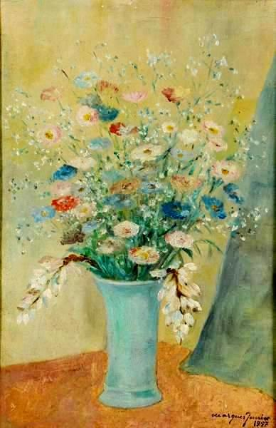 MARQUES JUNIOR (1887 - 1960) - Flores - ost - 47 x 32 - datado 1957
