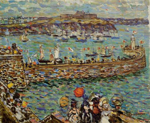 maurice prendergast, lighthouse-at-st-malo