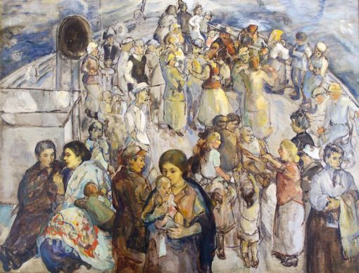-theresa-bernstein-1923-the-immigrants.The Immigrants, 1923, oil on canvas, Thomas and Karen Buckley Collection.