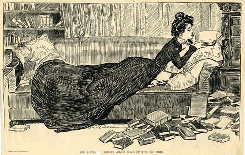 1900 Life illustration by Charles Dana Gibson