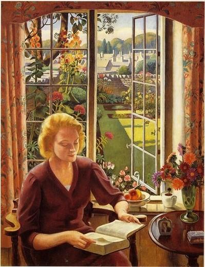 Adrian Paul Allinson (GB, 1890-1959) Leitura,1940, ost