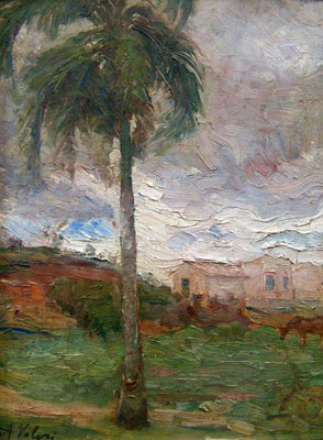 ALFREDO VOLPI - (1896 - 1988) Paisagem, osc, 34x26