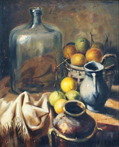 Edgard Oehlmeyer, Sem Título, Óleo sobre tela, 73 alt X 60 larg (cm), acsd