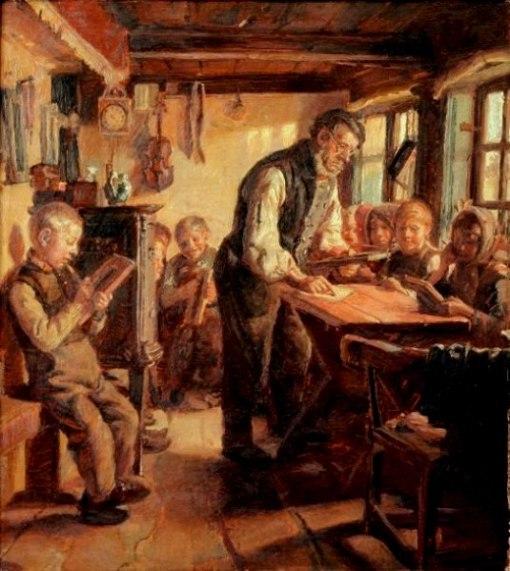 ESCOLA Michael Peter Ancher (1849 – 1927, Danish) a-village-school-in-skagen