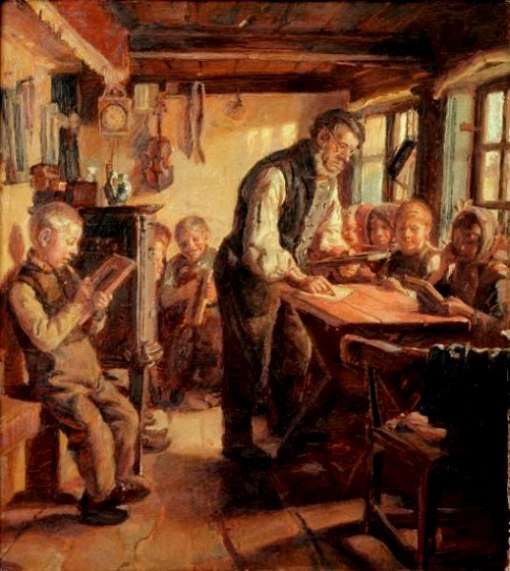 ESCOLA Michael Peter Ancher (1849 – 1927, Danish) a-village-school-in-skagen
