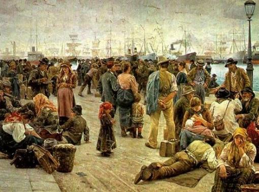 Gli-Emigranti-raffigurazione-di-Angiolo-Tomasi-1895-Galleria-dArte-Moderna-di-Roma