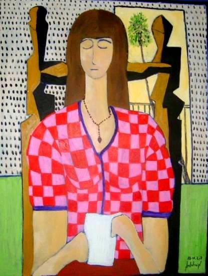 Juan Ardohain (Argentina, 1963, Mujer leyendo,