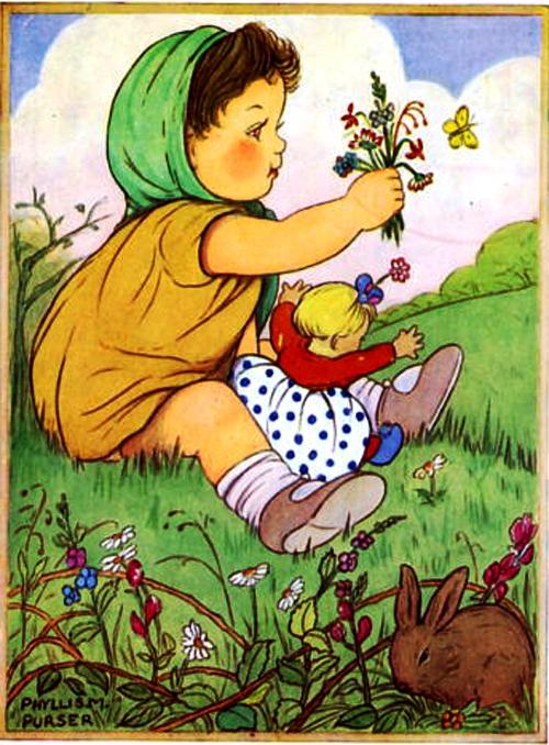 menina com flores, phyllis m purser
