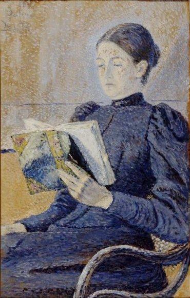 Retrato de Dolores Otaño, 1892, Dario Regoyos (Espanha, 1857-1913), ost, 55 x 35 cm, Museu da Rainha Sofia,