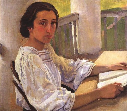 Serebriakova, retrato de esolntseva-irmadartista-1914, Zinaida Evgenievna Serebriakova (Carcóvia, 1884 — Paris, 1967)ost