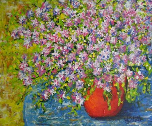 Wilson Tafner (1967)Vaso vermelhoAcrílico sobre tela100 x 120 cm
