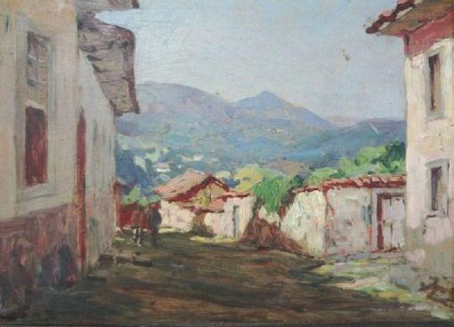 CAMPÃO, José Marques (1892 - 1949) Paisagem Mineira, o.s.m. - 20 x 26 cm. Ass