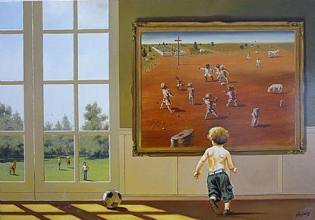 Cláudio Dantas, (Brasil, contemporâneo) Infância, 2010, ost, 70 x 100