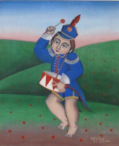 DARCIO LIMA - Óleo sobre tela, 65 cm x 55 cm (obra), assinado no canto inferior direito e datado de 1980,