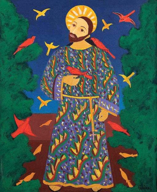 Djanira São Francisco de Assis Óleo sobre tela. Assinado inferior direito 73 x 60 cm.