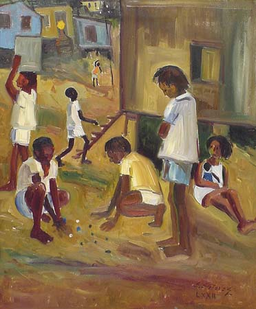 Edésio Esteves, Brincadeira de Criança, 1972,ost, 65x54 cm