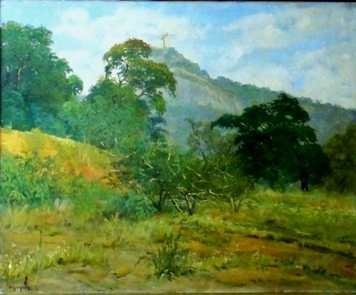EDY GOMES CAROLLO (1921-2000)Paisagem do Corcovado-Rio,ost, 50 x 60