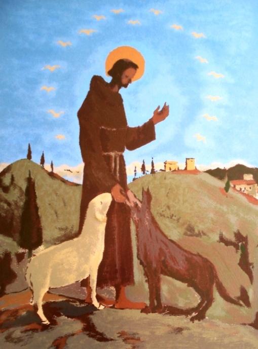 Fúlvio Pennacchi,São Francisco,Serigrafia 96de130 - 60x44cm