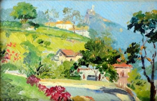 Felisberto Ranzini - Rio de Janeiro - Óleo sobre cartão - 11 x 16 cm ...