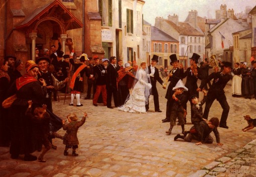 Gabriel_Charles Deneux_The_WeddingGabriel Charles Deneux - Gabriel Charles Deneux The Wedding Painting