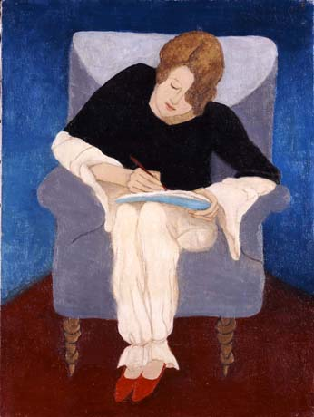 Gabriele Munter moça sentada