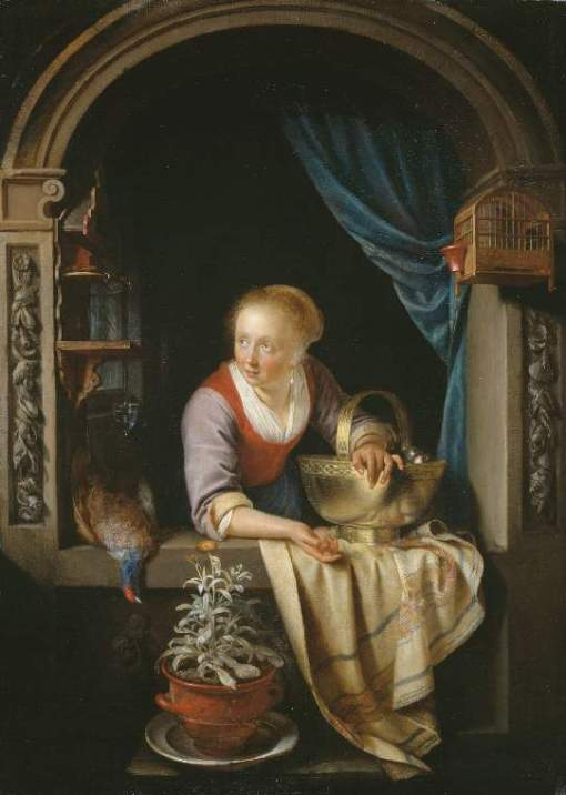 Gerrit Dou, Woman window, Fitzwilliam