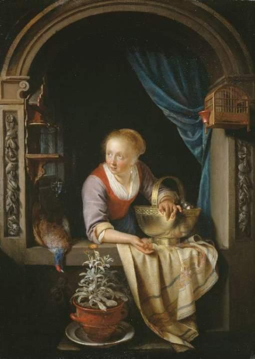 Gerrit Dou, Woman window, Fitzwilliam