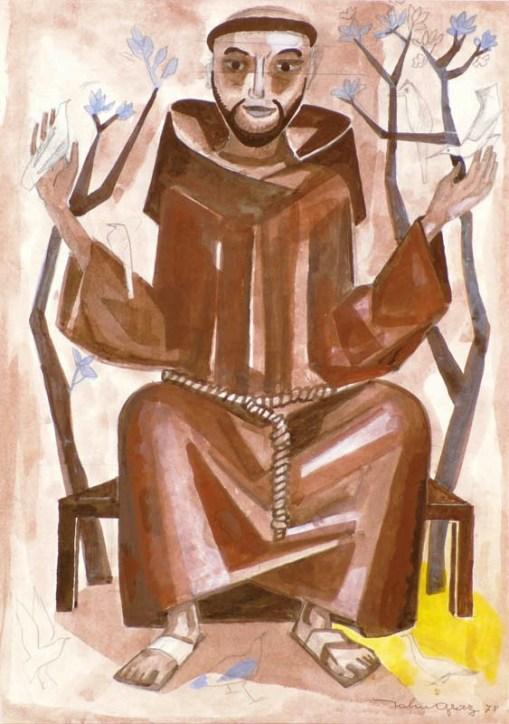 John Graz (Genebra 1891-São Paulo 1980),São Francisco, aquarela, 1978, 48 x 35