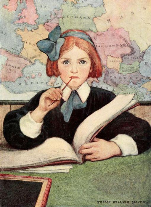 Menina na escola, Jessie Willcox Smith