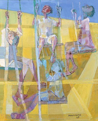 portinari_meninosbalanco, óleo sobre tela, 1960, 61 x 49 cm.