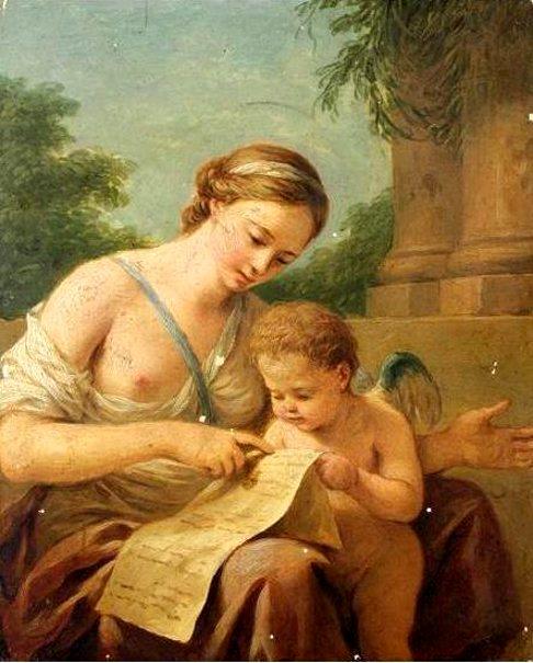 venus-enseigne-c3a0-lire-c3a0-lamour, Louis Lagrenée (1725 – 1805, French)