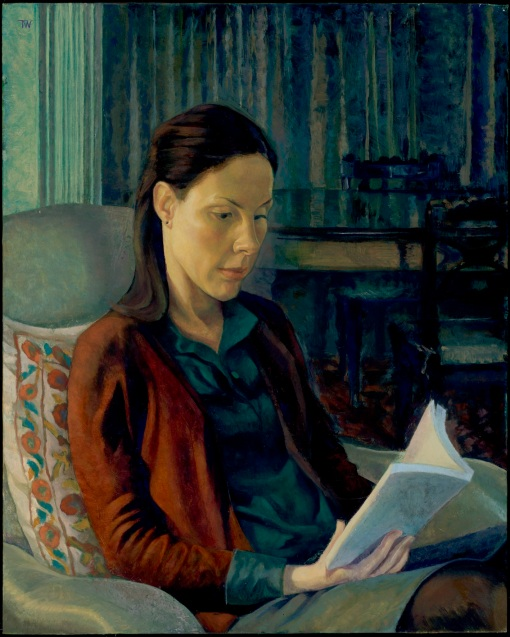 Wiggins, Toby, Natalie-Reading-50-x-40-cm-20-x-16-inches-oil-on-canvas