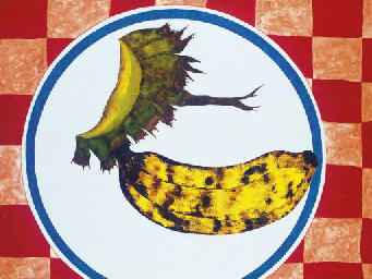 Antonio Henrique Amaral ( BRasil, 1935) Banana no Prato, 1970,ost, 128x170 Venda Christies