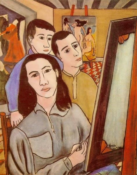 Auto retrato no Atelier, Djanira (Nova York, 1945)