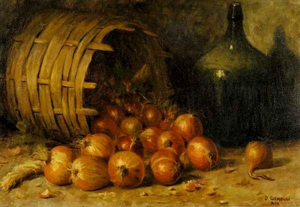 Domingos Gemelli, Composição com cebolas, ost, 51 x 73,