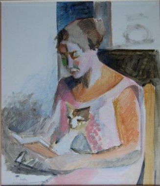 HECKLY Annie, Huile sur toile de 52x45 cm marouflée sur carton