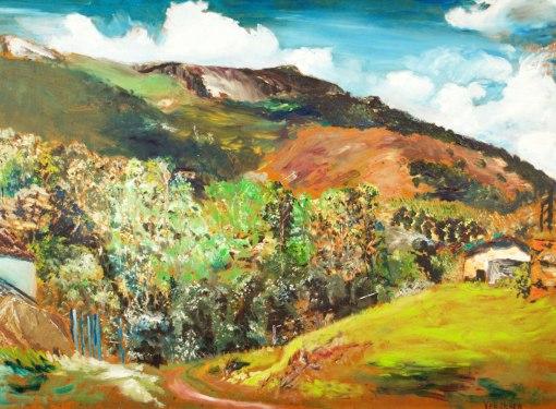 JOSÉ ANTONIO VAN ACKER - (Brasil, 1931 - 2000)Atibaia- óleo sobre eucatex - 54 x 73 cm