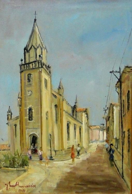 JOSÉ MARIA DE ALMEIDA (1906-1995)Igreja Matriz de Aruoca-MG,1981,ost, 55 x 38