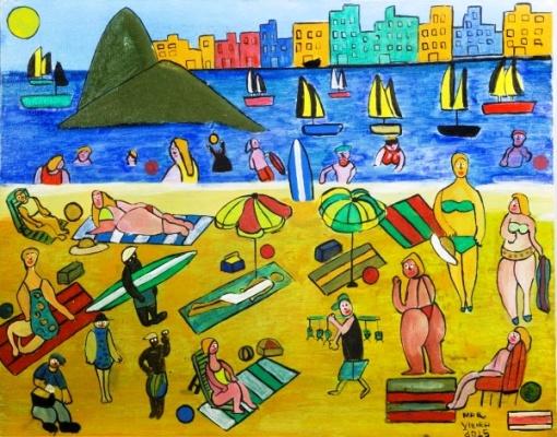 Marcelo Vieira, ` Rio de Janeiro `, 40 cm x 50 cm, assinatura canto inferior direito